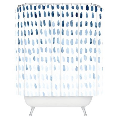 Proof of Life Shower Curtain Blue - Deny Designs