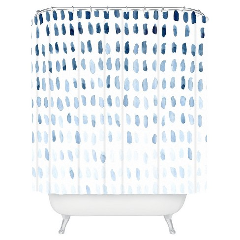 Proof of Life Shower Curtain Blue - Deny Designs - image 1 of 4