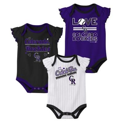 Colorado Rockies Girls' Bodysuit 3pk - 6-9M