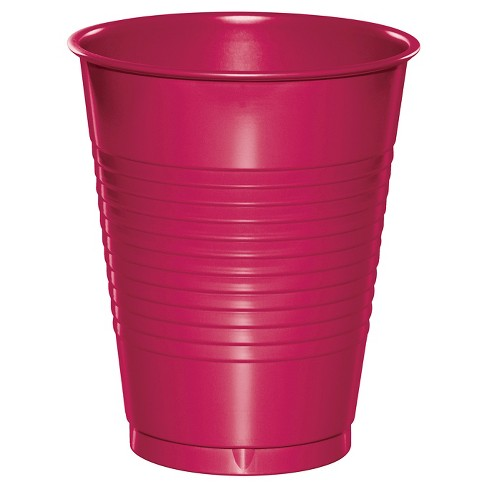 20ct Hot Magenta Pink Disposable Cups - image 1 of 1