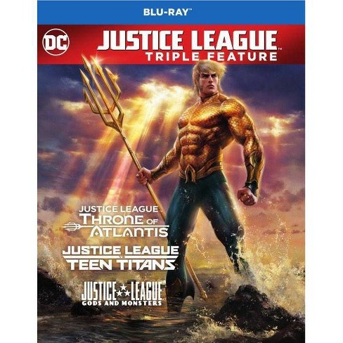 Dcu Justice League Vs. Teen Titans / Gods And Monsters / Throne Of Atlantis (Blu-ray) - image 1 of 1