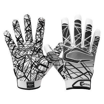 Cutters Game Day Receiver Gloves Youth - White S