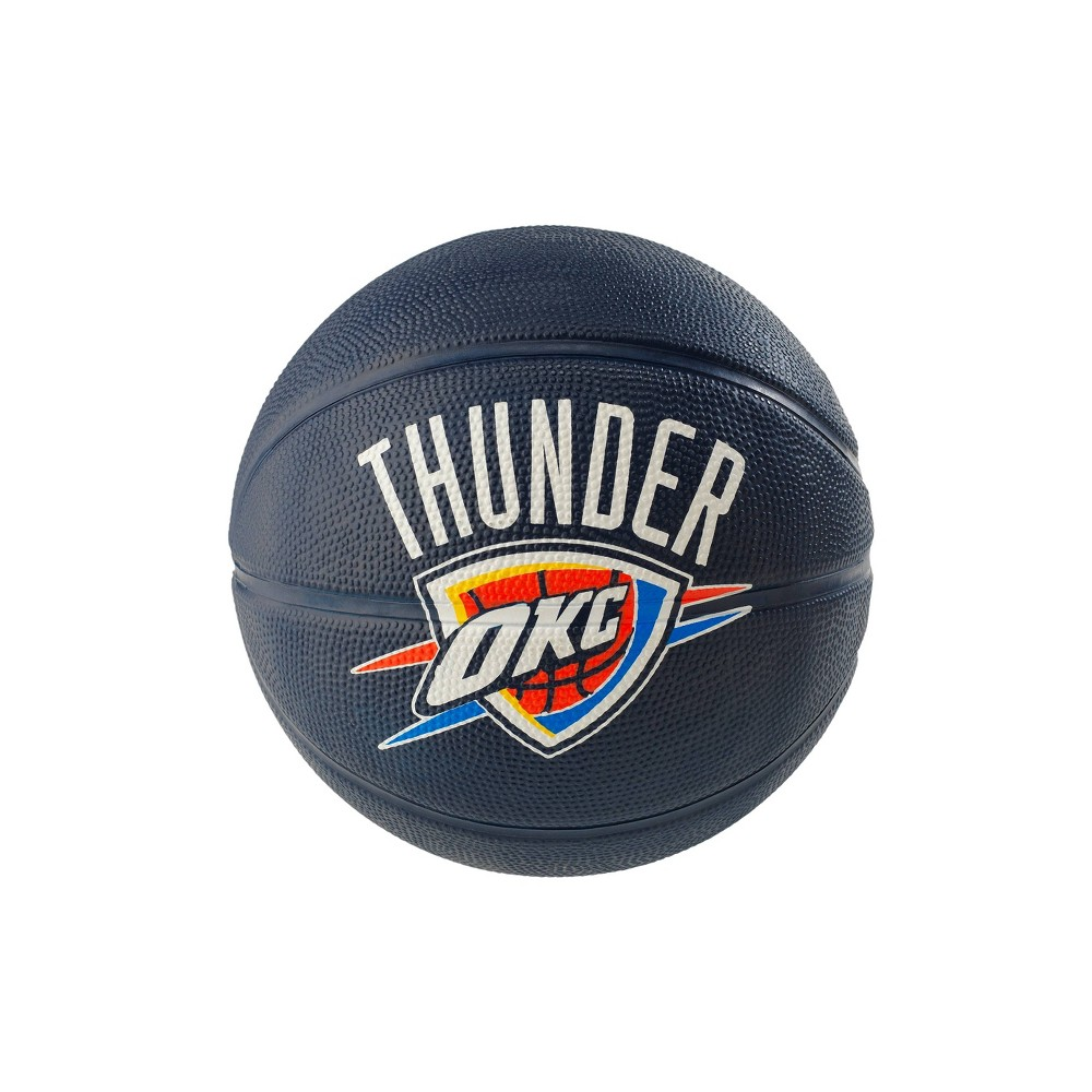 NBA Oklahoma City Thunder Spalding Mini Ball Size 3 Rubber Basketball