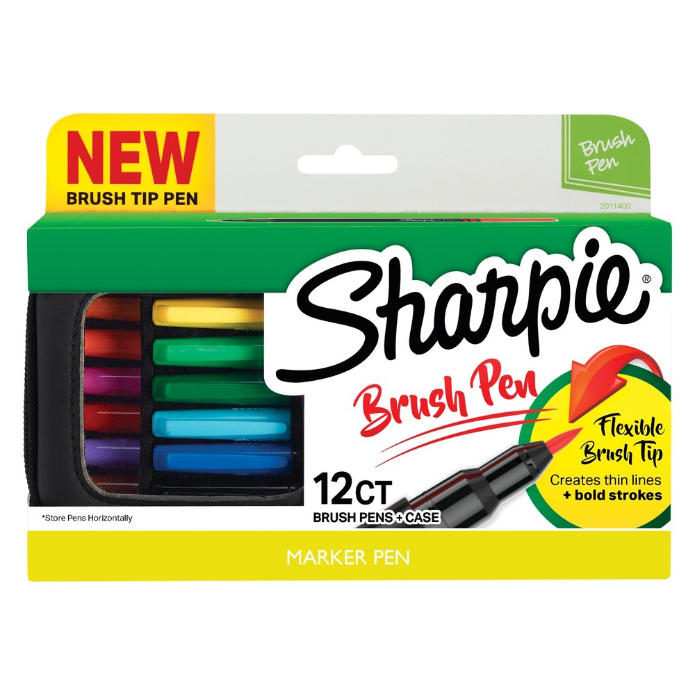 Image of Sharpie 12ct Brush Tip Pens in Case