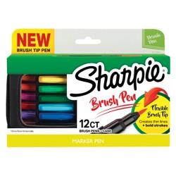 Sharpie 12ct Brush Tip Pens in Case