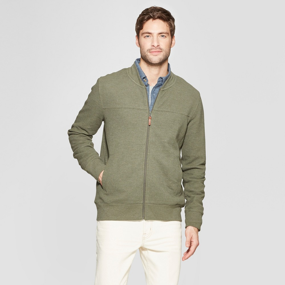 Men's French Terry Bomber Jacket - Goodfellow & Co Late Night Green XL