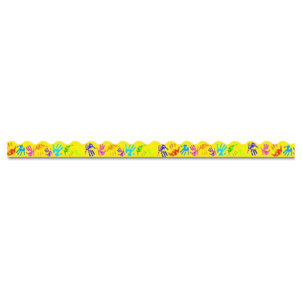 Trend Terrific Trimmers Bright Border, 2 1/4  x 39  Panels, Helping Hands, 12/Set, Yellow Trend Terrific Trimmers Bright Border, 2 1/4  x 39  Panels, Helping Hands, 12/Set Color: Yellow.