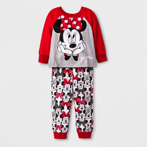 1fa99a17f9 Toddler Girls  Minnie Mouse 2pc South Pajama Set - Red 4T   Target