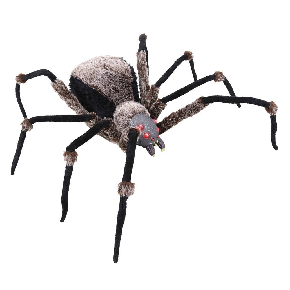 "Image of ""53"""" Spider Black Light-Up Halloween Decorative Holiday Scene Props"""