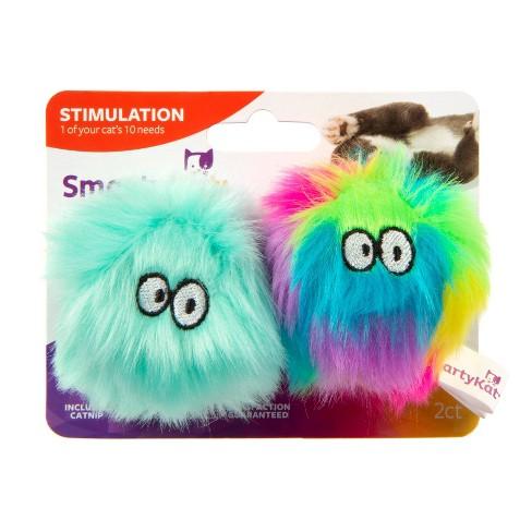 SmartyKat Fuzzy Friends Catnip Cat Toy - Set of 2 - image 1 of 4
