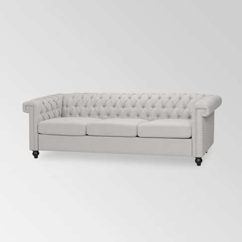 Parkhurst Leather Tufted Chesterfield