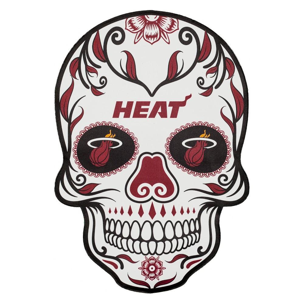 NBA Miami Heat Small Outdoor Skull Decal
