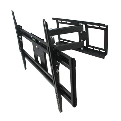 MegaMounts Full Motion Television Wall Mount with Bubble Level for 32-70 Inch Displays