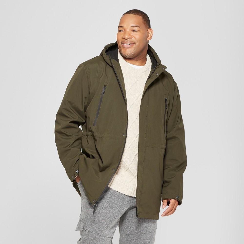 Men's Big & Tall Copenhagen Mac Coat - Goodfellow & Co Olive 3XB, Green