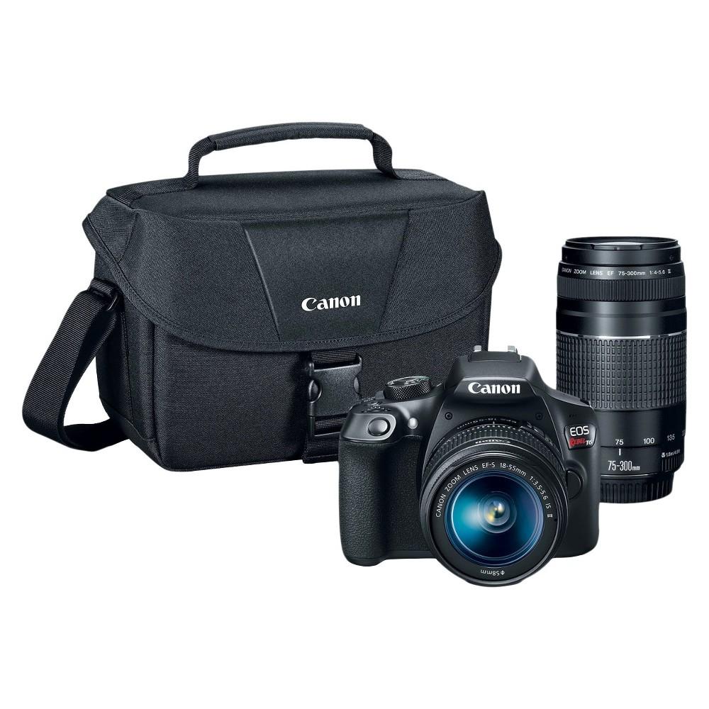 Digital Slr Camera Bundle Canon 18.7mp Black