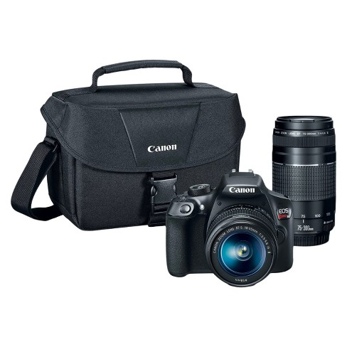 Canon DSLR EOS T6 2Lens Kit Bundle w/ SD Card (18-55mm IS Lens, 75-300mm Zoom Lens) - image 1 of 2