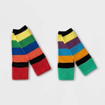 Toddler 2pk Sensory Friendly Cali Striped Socks - Sockabu 3T-4T