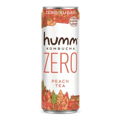 Humm Zero Sugar Peach Tea Kombucha - 11 fl oz
