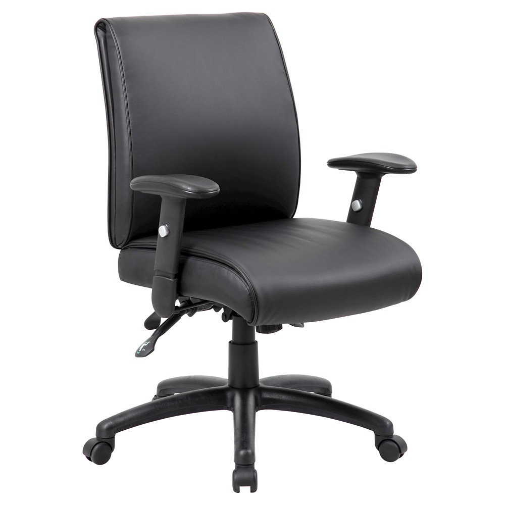 Multi-Function Mid Back Executive Chair Black - Boss Office Products