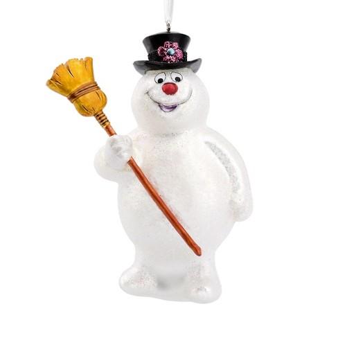 hallmark frosty the snowman glass christmas ornament