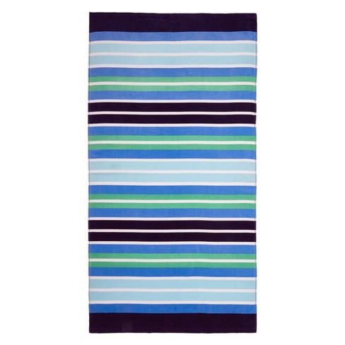 Stripe Beach Towel Cool Blue - image 1 of 1