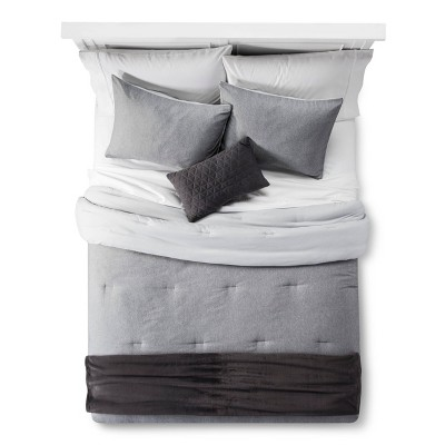 Heather Gray Comforter Set 5pc (King)- Room Essentials™