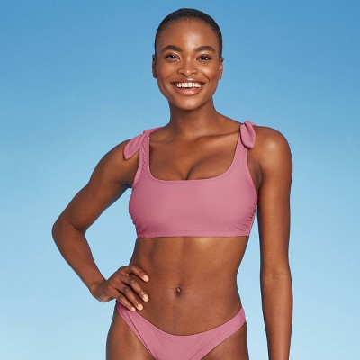 Juniors' Shoulder Tie Bralette Bikini Top - Xhilaration™