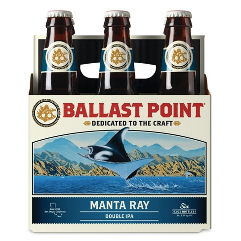Ballast Point Manta Ray Double IPA Beer - 6pk/12 fl oz Bottles - image 1 of 3