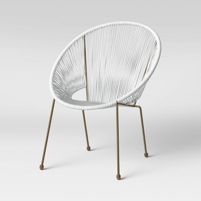 Fisher Stacking Patio Egg Chair - White - Project 62™