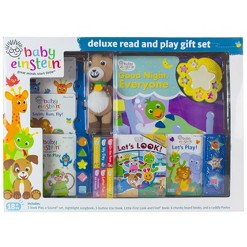 Baby Einstein Deluxe Read and Play 12 Book Gift Set with Plush
