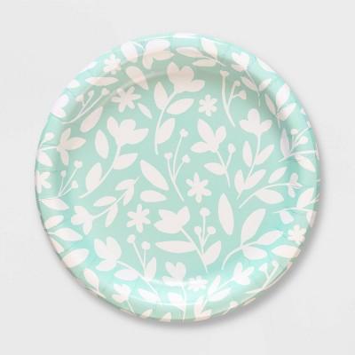 20ct Spring Floral Paper Dinner Plates - Spritz™
