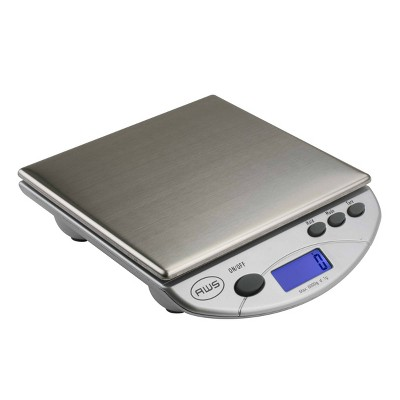 American Weigh Scales Amw-13 Stainless Steel Table Bench Scale Silver 13.2lb