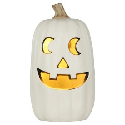 Halloween Lit Pumpkin White 16  - Hyde and Eek! Boutique™