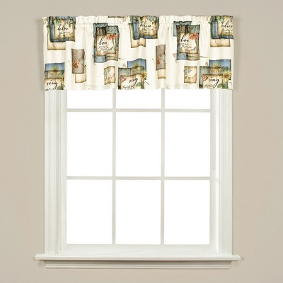 SKL Home Nature's Hope Flowers & Butterflies Printed Tier Pair Window Curtains, Multi