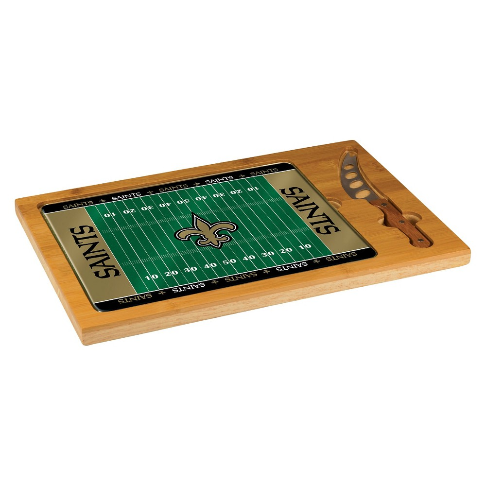 New Orleans Saints - Icon Cutting Board/Tray and Knife Set by Picnic Time (Football Design)