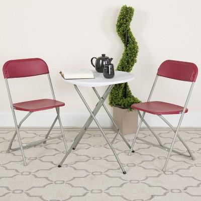 Flash Furniture HERCULES Series Plastic Folding Chairs | Set of 2 Lightweight Folding Chairs