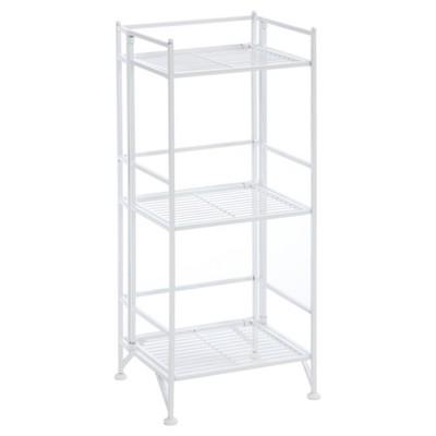 """32.75"""" 3 Tier Folding Metal Shelf White - Breighton Home"""