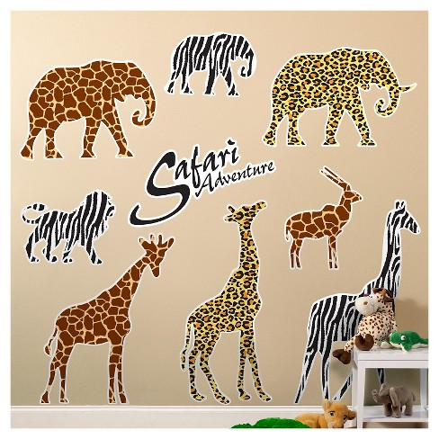 Safari Animal Adventure  Wall Decal - image 1 of 1