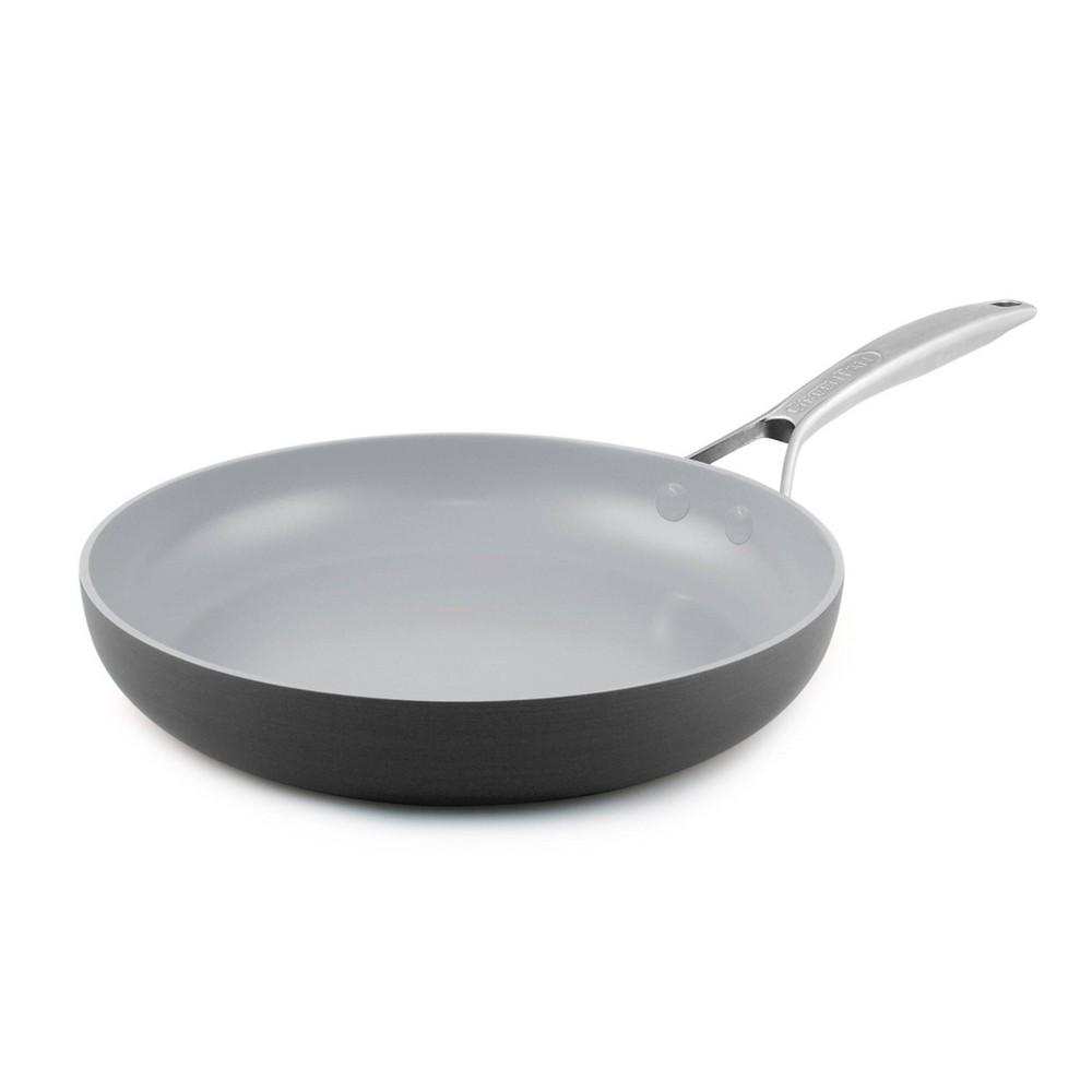 Image of GreenPan Paris 4qt Saute Pan with Lid and Helper Handle, Gray