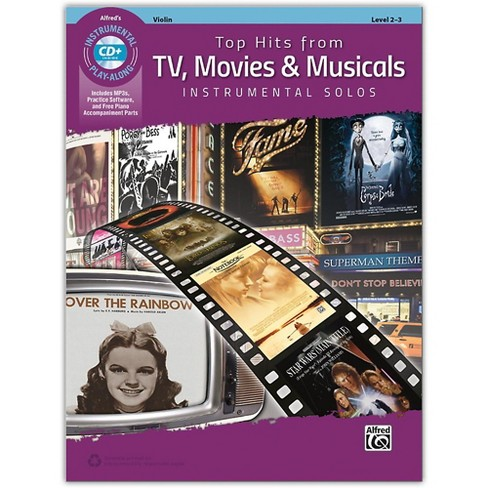 Alfred Top Hits from TV, Movies & Musicals Instrumental Solos for Strings Violin Book & CD, Level 2-3 - image 1 of 1