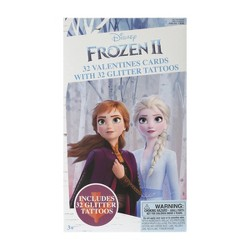 Frozen 2 32ct Deluxe Valentines Cards With Tattoos