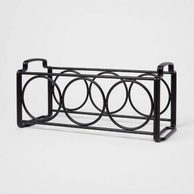 Steel Wine Rack Black - Threshold™