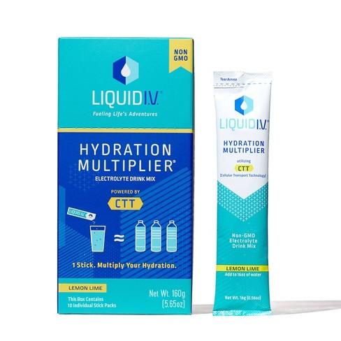 Liquid IV Hydration Multiplier - Lemon Lime - 10ct/0.56oz - image 1 of 4