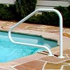 Saftron RTD-448-W 4 Bend Durable Swimming Pool Mounted Polymer Handrail, White - image 3 of 4