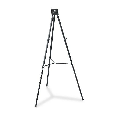 "Quartet Aluminum Heavy-Duty Display Easel 38"" to 66"" High Aluminum Black 56E - image 1 of 4"