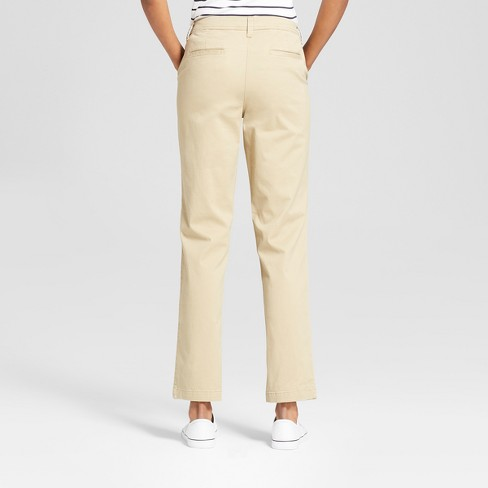 7dffaa094055 Women's Slim Chino Pants - A New Day™ Tan 18 : Target