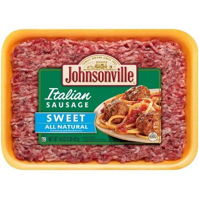 Johnsonville Sweet Italian Ground Sausage - 16oz