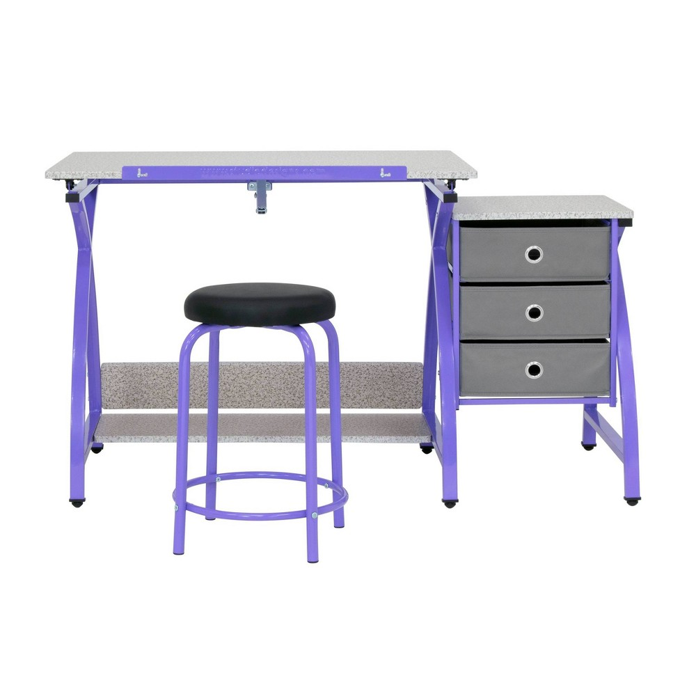 Image of 2pc Canvas & Color Adjustable Top Center Purple/Spatter Gray - Studio Designs
