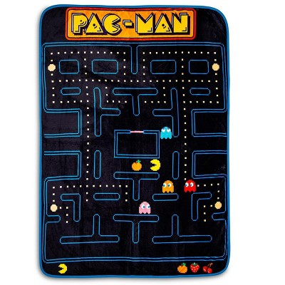 Just Funky Pac-Man Maze Fleece Throw Blanket | Cozy Lightweight Blanket | 45 x 60 Inches