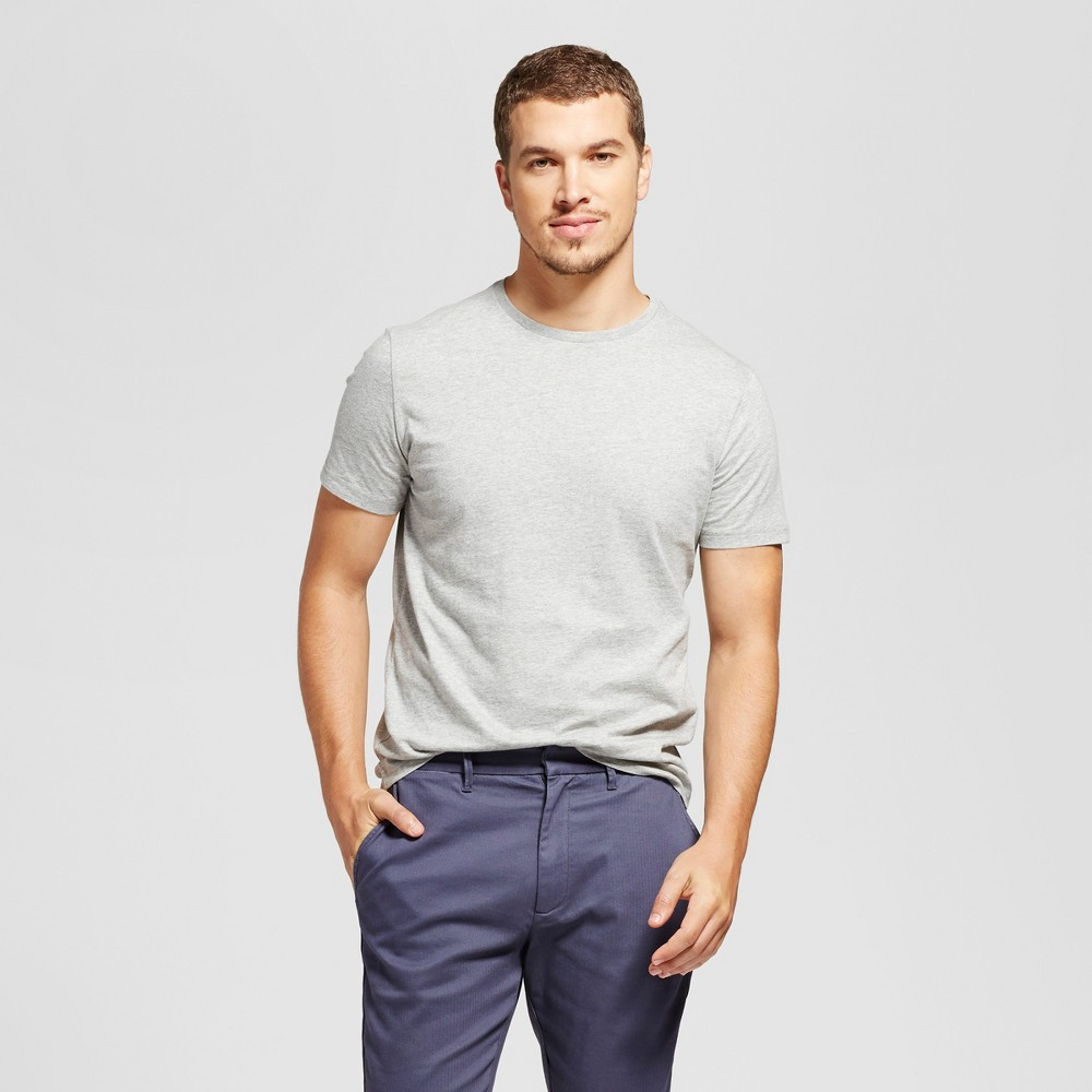Men's Slim Fit Solid Crew T-Shirt - Goodfellow & Co Gray M